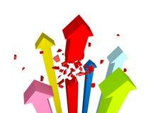 Broken Arrow Royalty Free Stock Image