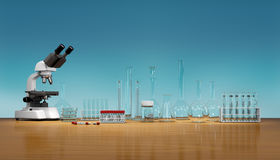 3D render, illustration.Science concept, Royalty Free Stock Images