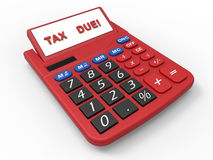 3D render illustration of the tax due deadline Royalty Free Stock Photos
