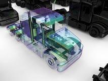 Transparent truck closeup Stock Images