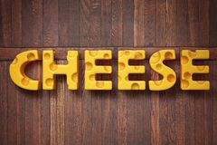 3d render illustration of the word cheese stock photo