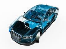 Car interior development process Royalty Free Stock Images