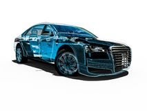 Car interior development process Stock Photo