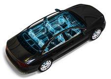 Car interior development process Royalty Free Stock Image
