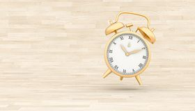 3d render image of a classic gold alarm clock stock images