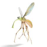 3D render image of stylized gnat isolated on the white Stock Image