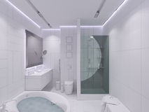3d render interior design of a bathroom Royalty Free Stock Image