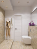 3d render of interior design bathroom Royalty Free Stock Photography