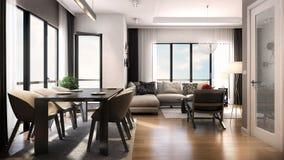 3D render of interior design Stock Images