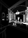 3d render of interior  luxurious bathroom Stock Image