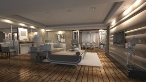 3d render of interior stock images