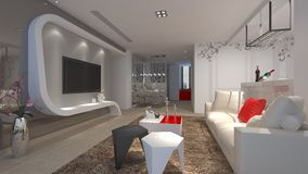3d render of interior royalty free stock photos