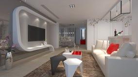 3d render of interior. 3d render of luxury interior Royalty Free Stock Photos