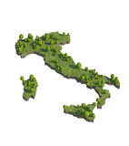 3d render of italy map section cut isolated on white with clipping path Stock Photos