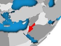 Map of Jordan Royalty Free Stock Images