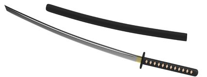 3d render of katana Stock Photos