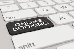 3d render - keyboard - online booking - black Stock Image