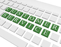 3d Render of a Keyboard Spelling Out Customer Service Stock Image