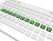 3d Render of a Keyboard Spelling Out Opportunity Royalty Free Stock Photography