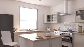 Kitchen Interior. 3D render of a Kitchen Interior Stock Photo