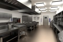 3d render of kitchen Royalty Free Stock Photography