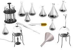 3d render of laboratory equipment Stock Photography