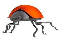 3d render of ladybug Stock Photography