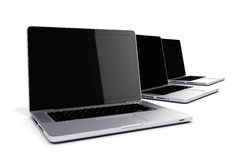 3d render of laptops Royalty Free Stock Images
