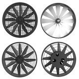 3d render of large fans Royalty Free Stock Image