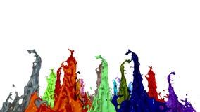 3d render of liquid splash on jar like paint on sound speaker. colorful 3d composition with dancing liquid. multicolor. 3d render of liquid splash on jar like vector illustration