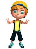 3D Render of Little  boy thumbs up pose. 3D Render of Little boy thumbs up pose Stock Photography