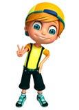 3D Render of Little  boy thumbs up pose. 3D Render of Little boy thumbs up pose Stock Photos