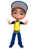 3D Render of Little  boy thumbs up pose. 3D Render of Little boy thumbs up pose Royalty Free Stock Images