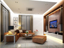 3d render of  living room Stock Photography