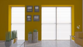 Living Room Interior. 3D render of a Living Room Interior Royalty Free Stock Photo