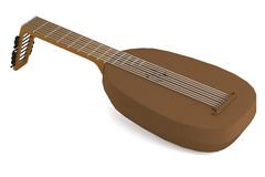 3d render of lute Royalty Free Stock Image