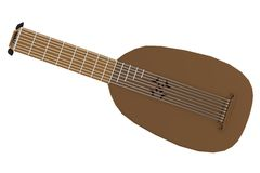 3d render of lute Stock Image