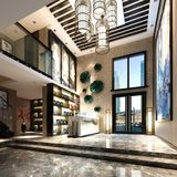 3d render of luxury building entrance. And lobby Royalty Free Stock Photos