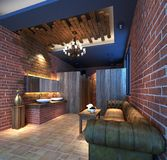 3d render of luxury building lavatory. 3d render of luxury house lavatory Stock Image