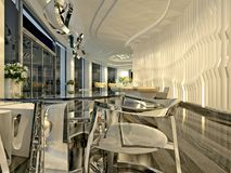 3d render of luxury hotel lobby Royalty Free Stock Photo