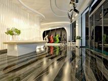3d render of luxury hotel reception Stock Image