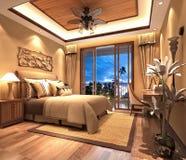 3d render of luxury hotel room Stock Images