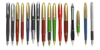 3d render of luxury pens Royalty Free Stock Images