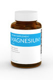 3d render of magnesium pills in bottle over white Royalty Free Stock Photography