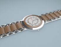 3d Render of a Mans Wrist Watch Royalty Free Stock Image
