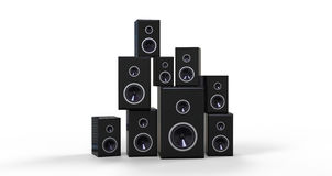 Many Black Speakers Stock Photo