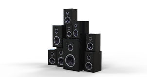 Many Black Speakers Stock Photography