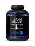3d render of mass gainer bottle Royalty Free Stock Photo