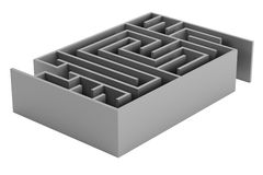 3d render of maze Royalty Free Stock Images