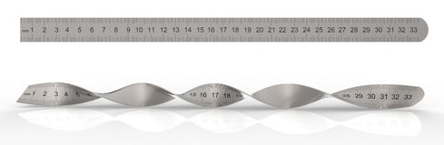 Metal ruler Royalty Free Stock Photos